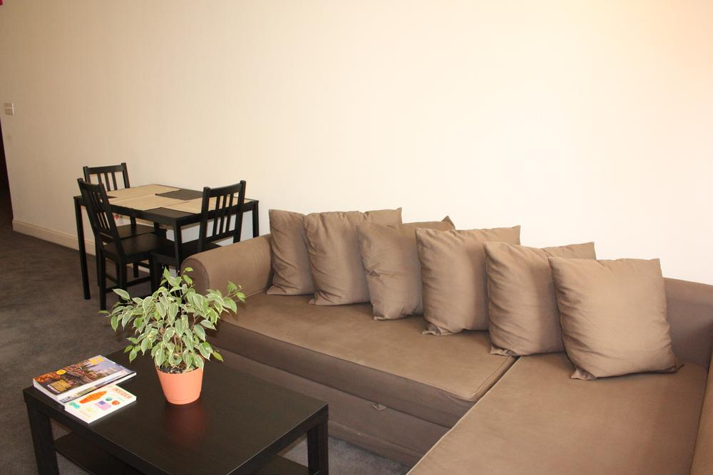 Couch and dining table